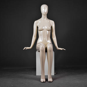 Fiberglass Abstract Female Egg Head Mannequin For Widow Display