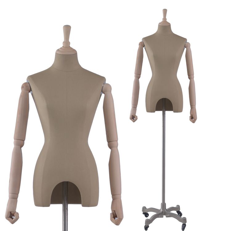 Adjustable cloth fitting dress form mannequin female linen mannequin for wedding dress(RNG)
