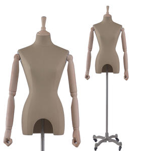 Half body form linen dress mannequin for sale female torso for wedding dress(RNG dress mannequin for sale)