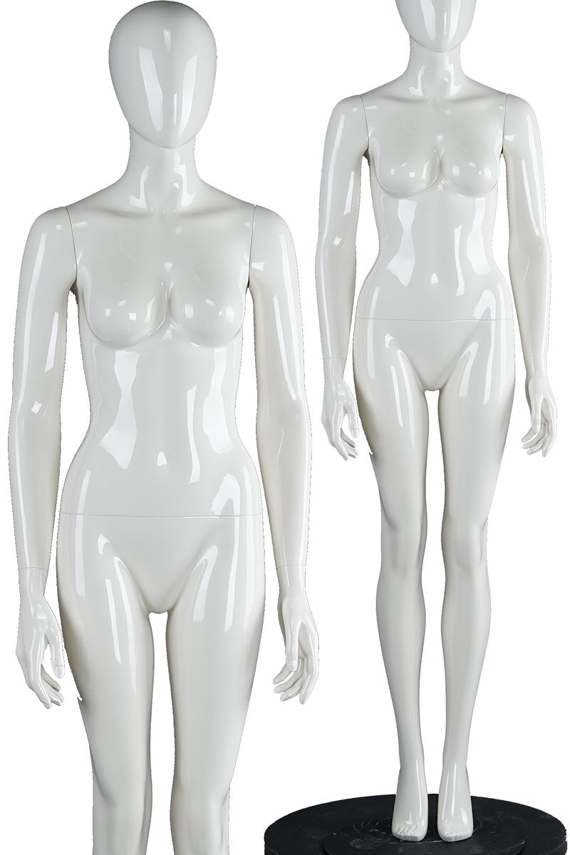 6c269720e Глянцевая белая мода из стекловолокна манекены передвижная женская  маскарадная женская макияж с головой (женский манекен серии PF)