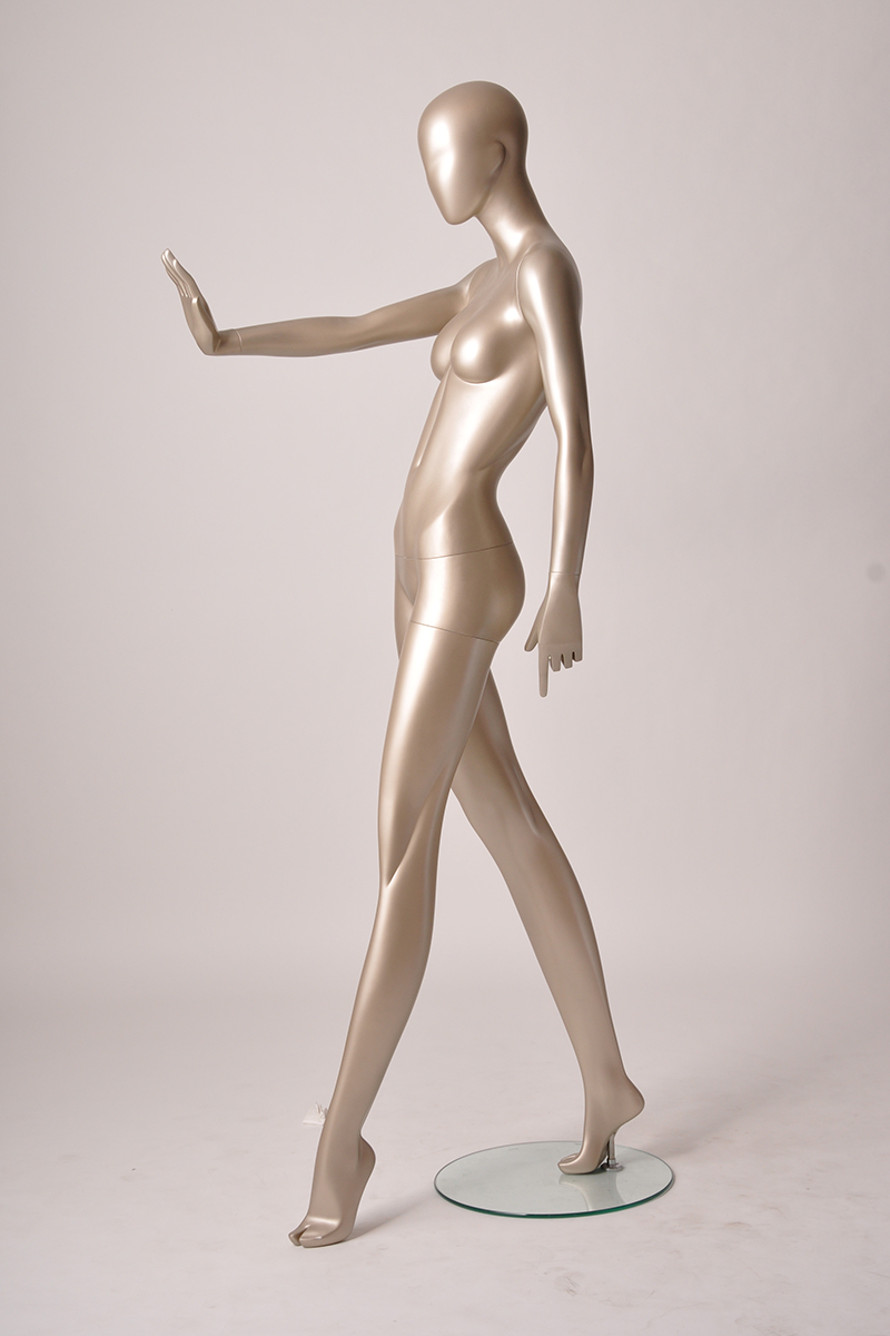 High quality adjustable fiberglass women mannequin full female gold mannequin manufacturer(SGF series female mannequin)