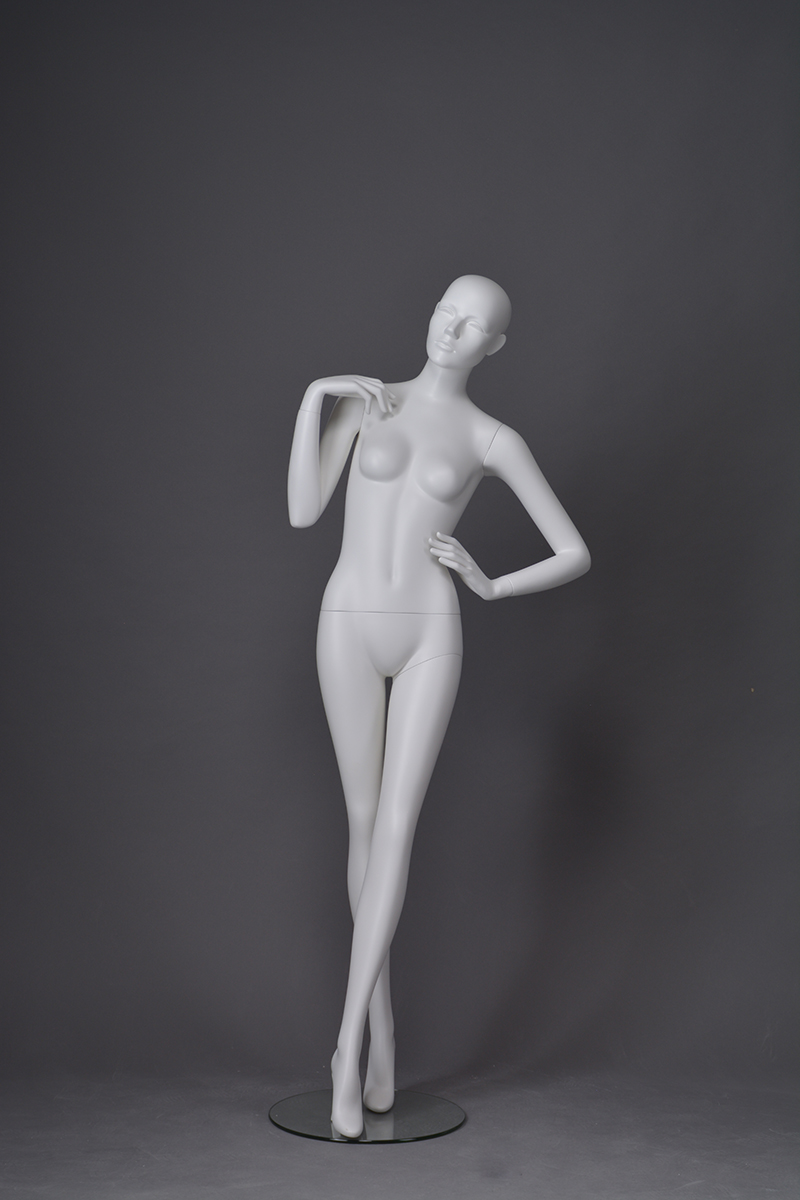 Sexy full body adjustable mannequin female white posing female display mannequins with adjustable hand(CX-2)