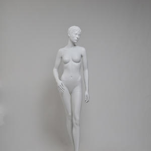 Full body fashion fiberglass female most realistic mannequins with make up sculpture head