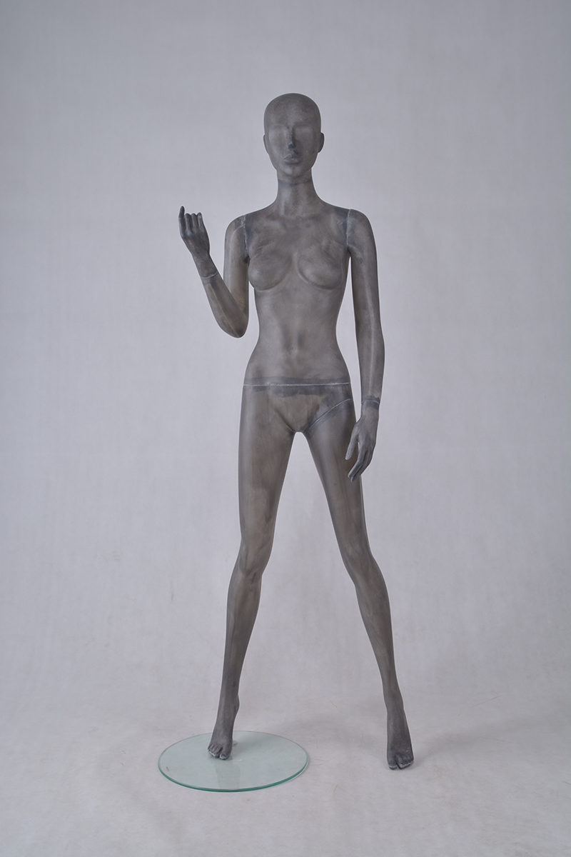 Fiber glass full body vintage beautiful abstract female posing store mannequins sale(female mannequin sale)