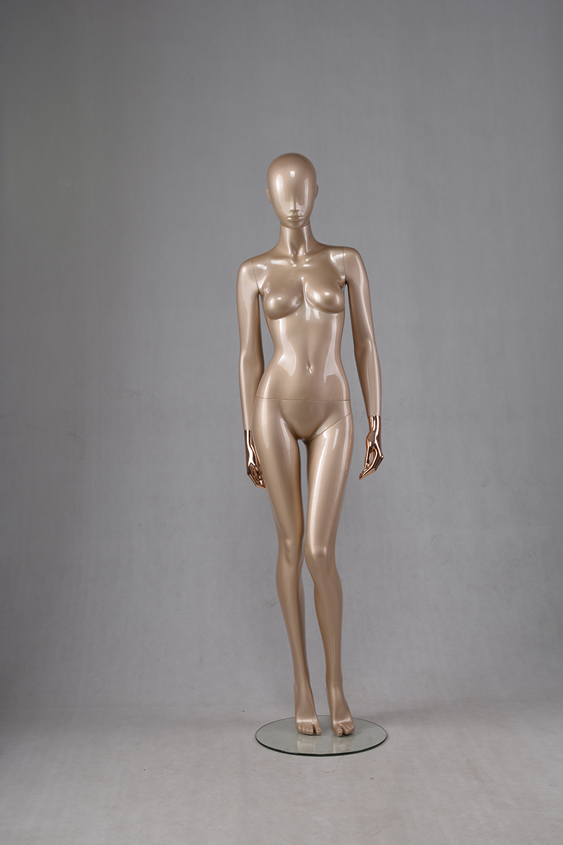 Life size fashion manikin glossy gold female sitting mannequin full body female dress form mannequin(HGM female mannequins for sale)