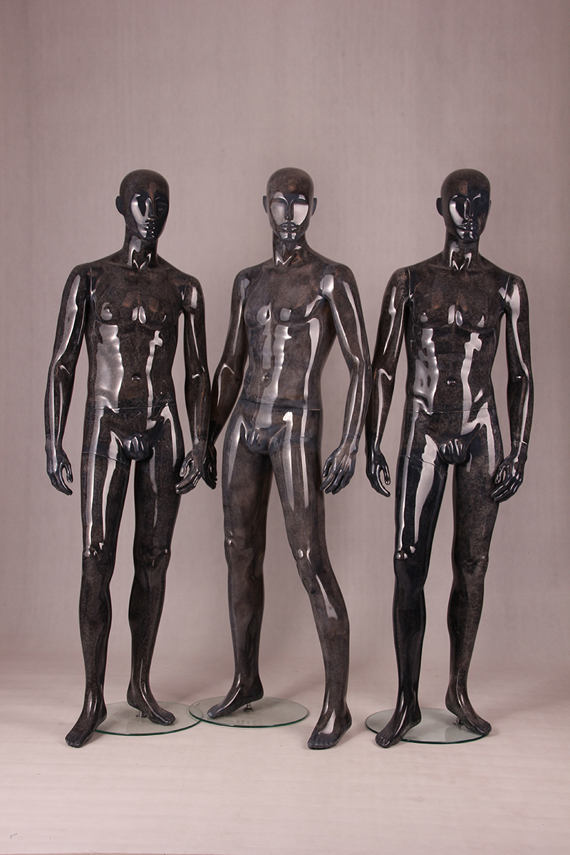 Glossy black factory direct price muscular male mannequin fashion window display vintage mannequins