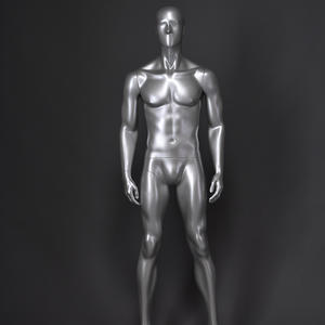 Wholesale grey silver muscle male and female mannequins/men suit model male mannequin