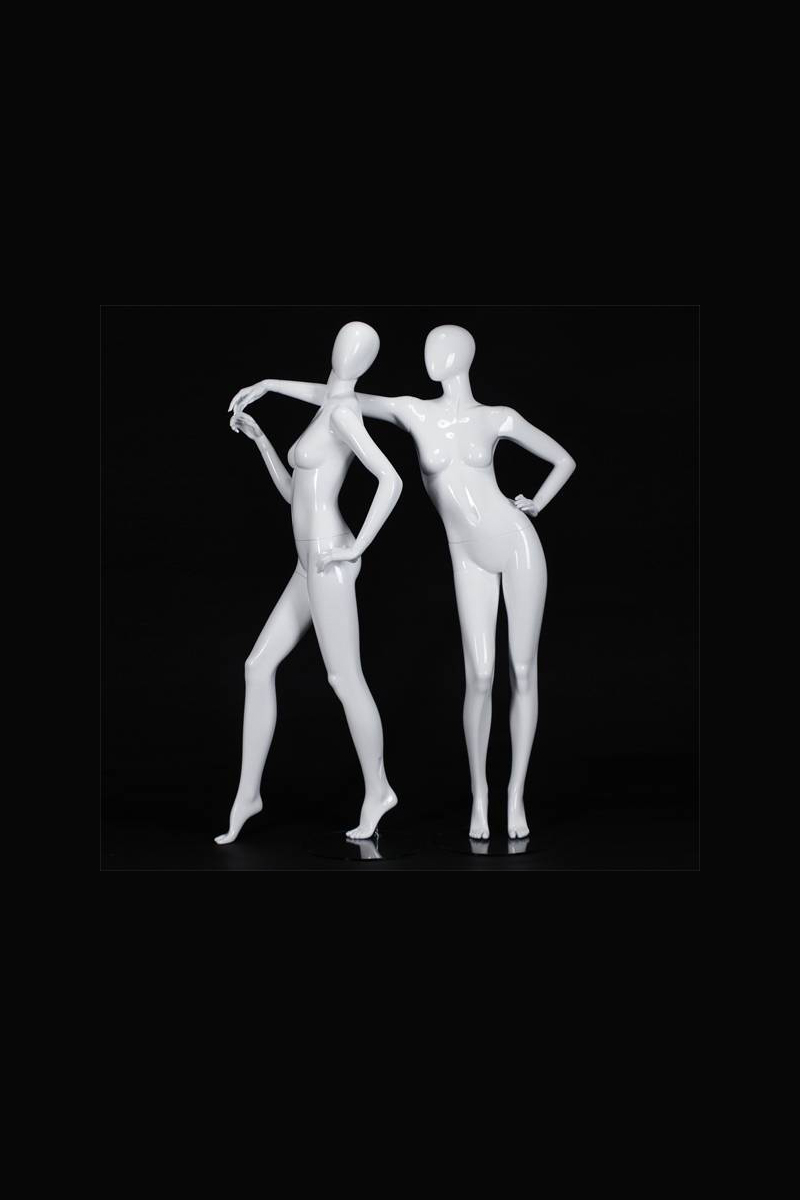 White glossy adults female mannequins for winter display window female fashion mannequin manufacturer(EFM series female fashion mannequin )