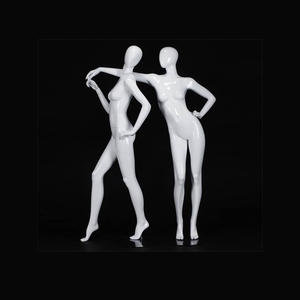 White glossy adults female mannequins for winter display window female fashion mannequin manufacturer