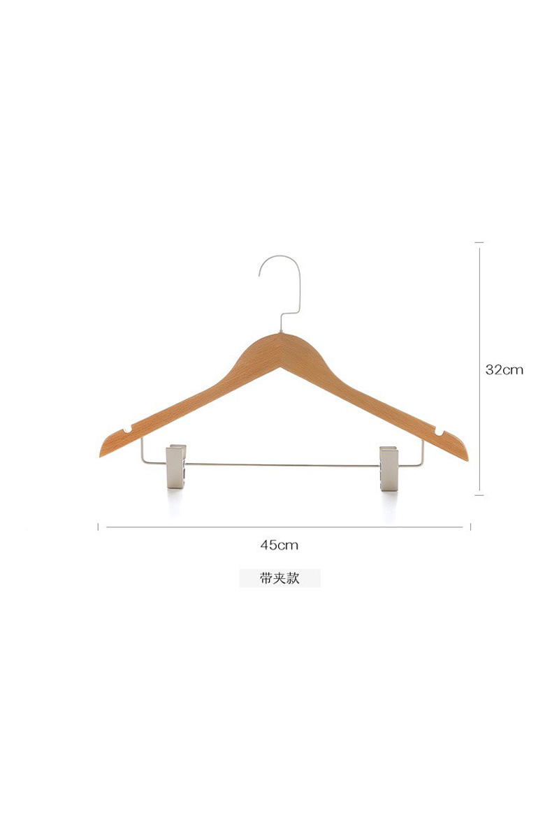 Shirt black/white wooden types clothes hangers best skirt hangers(YJG)