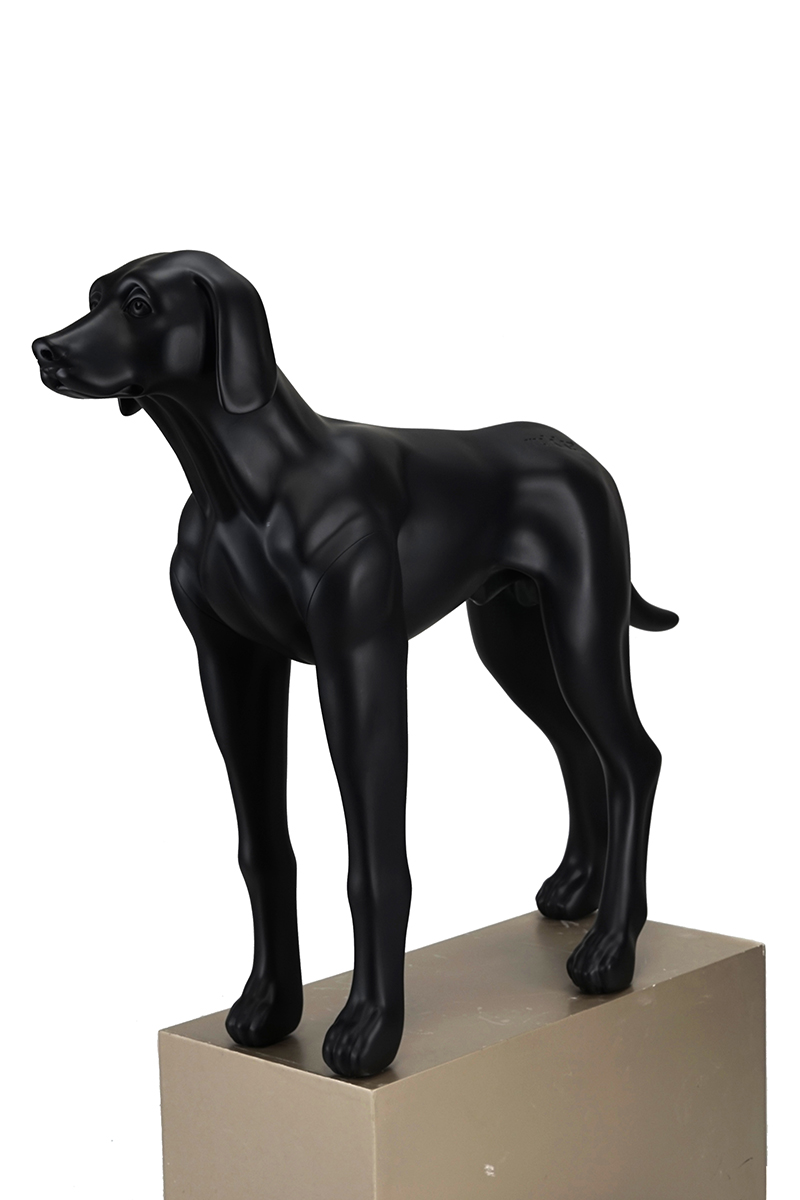Fiberglass black dog mannequins resin statues for sale