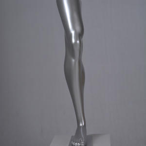 Customized sliver male foot mannequin