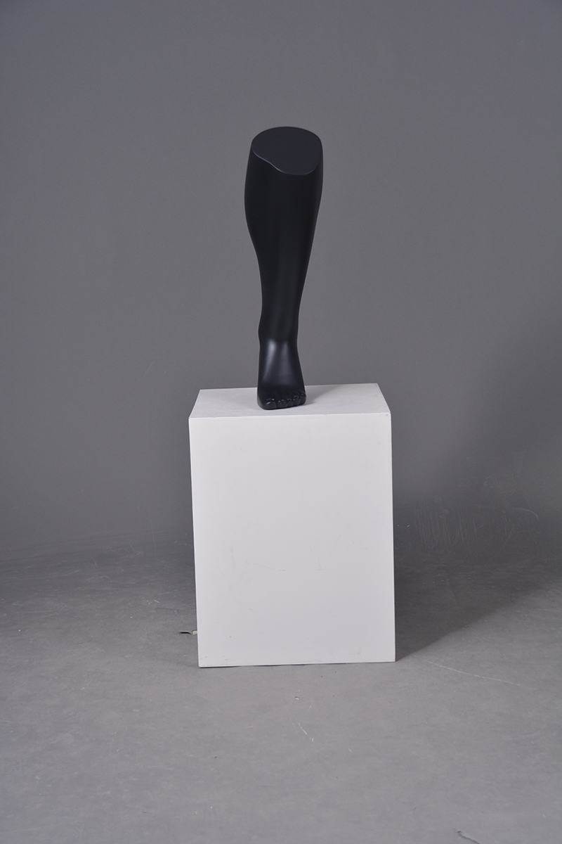 Customized black male foot mannequin for sock display(BF)