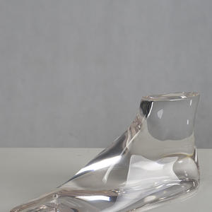 Customized wholsale foot display mannequins acrylic transparent mannequin for shoes display