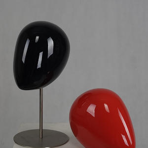 High quality glossy abstract head mannequins for accessories display