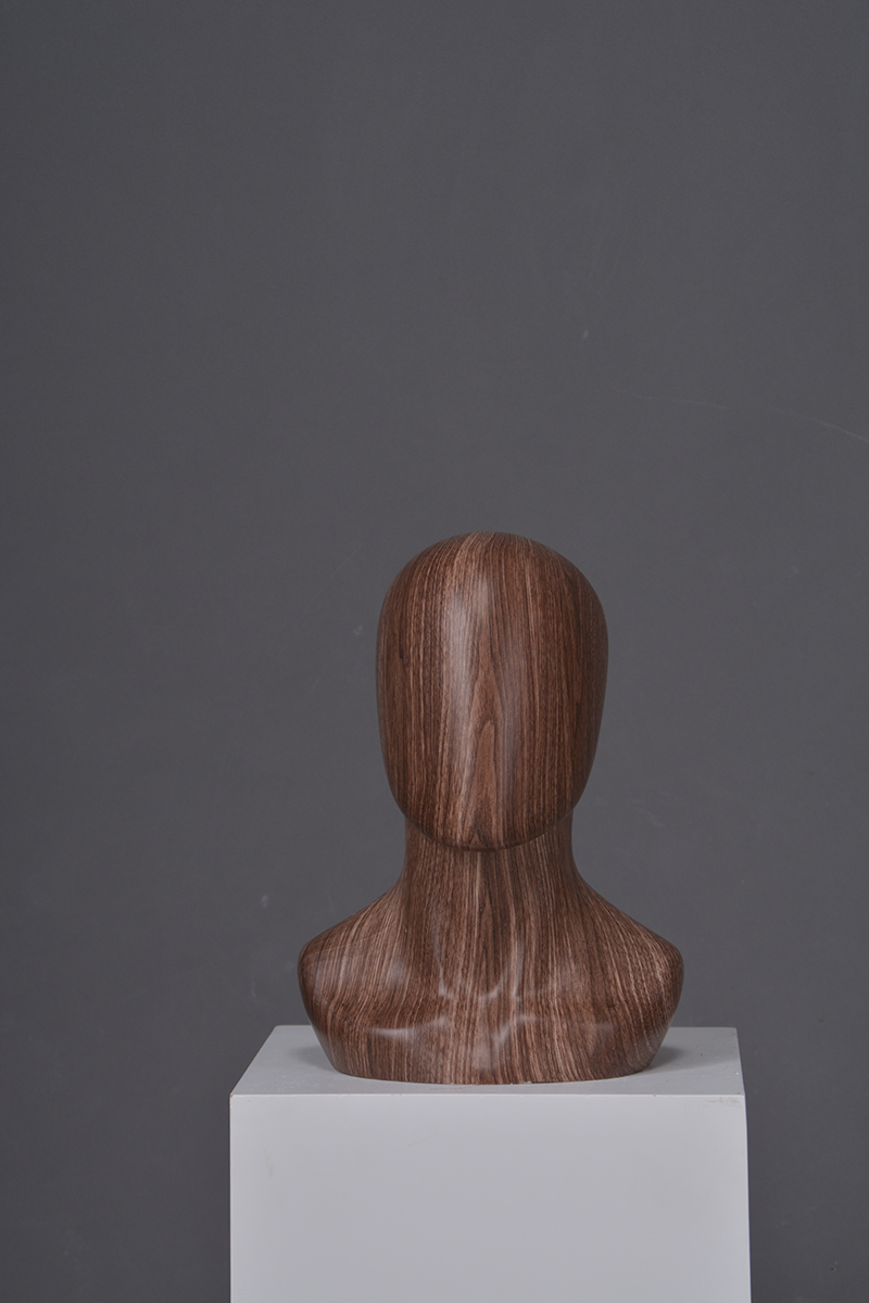 High quality glossy Water transfer printing abstract head mannequins for accessories display (MMH)