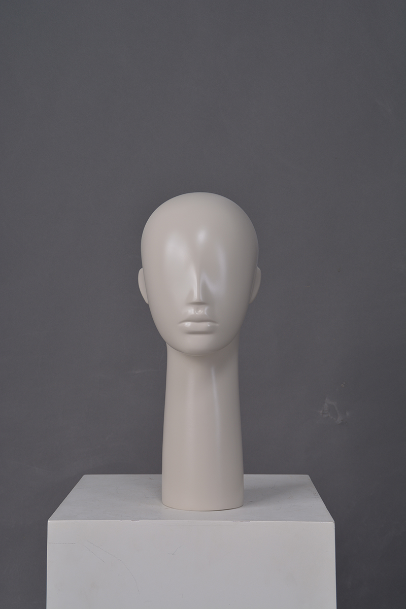 High quality glossy abstract head mannequins for hat display (OMH)