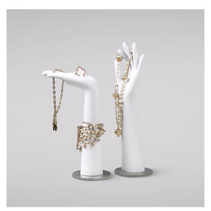 Customized plastic mannequin hand jewelry display with stand for sale(IH)