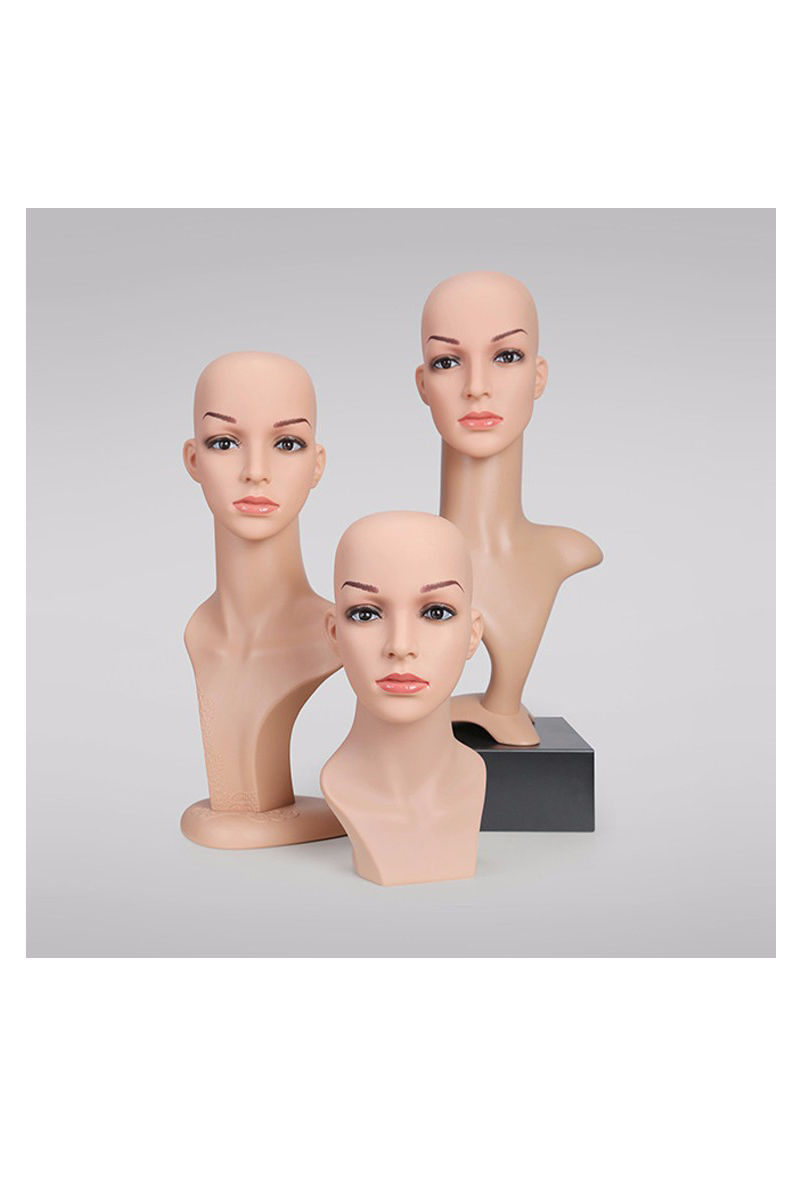 Fashion mannequin head with shoulders for wigs display(RMH)