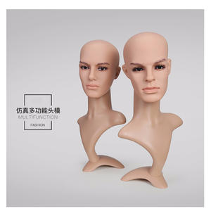 Customized makeup mannequin head with shoulders for wig display mannequin head