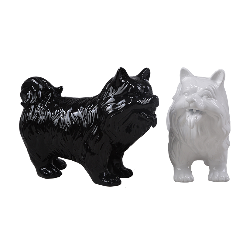 Fiberglass animal mannequins resin dog statues