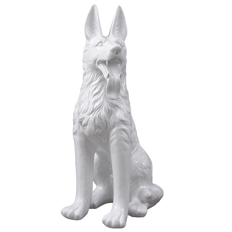 Factory price cheap dog mannequins fiberglass animal status for sale