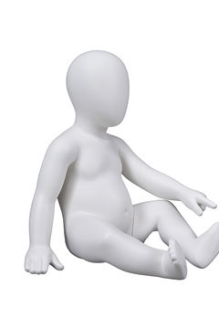 Kids abstract baby dummy manikin model boy toddler mannequin crawling(IG 6 months infant mannequins)