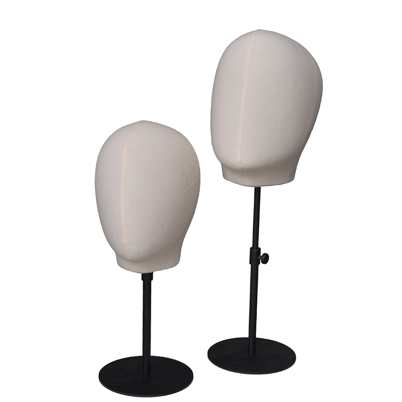 High quality fabric linen abstract head mannequins for sale (PMH)