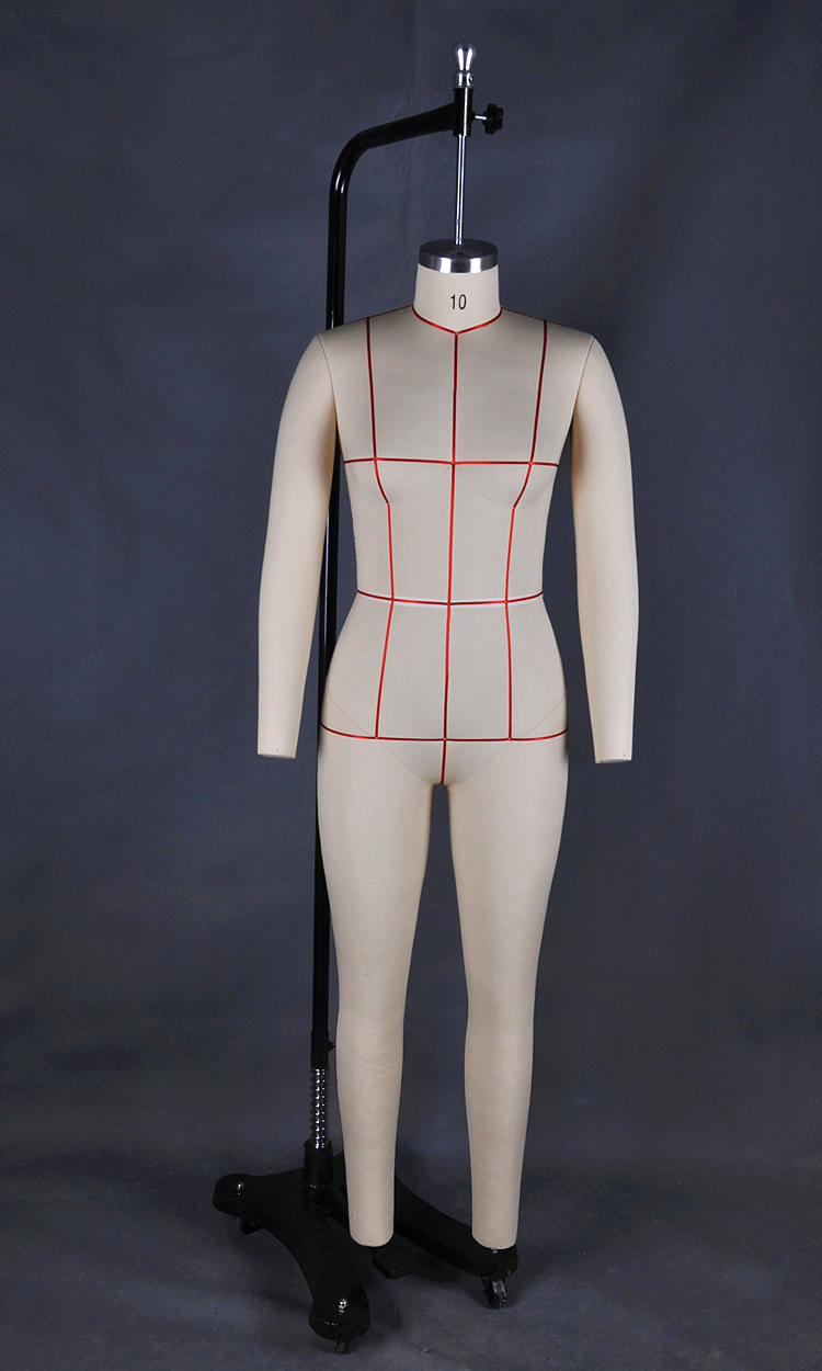 Customized Full Body Female Adjustable Dressmaker Dummy For Sewing
