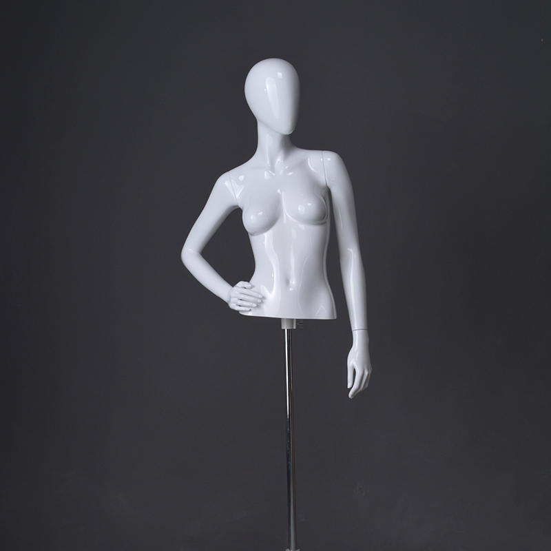 Glossy female mannequin half body manikin for clothes display(DMH)