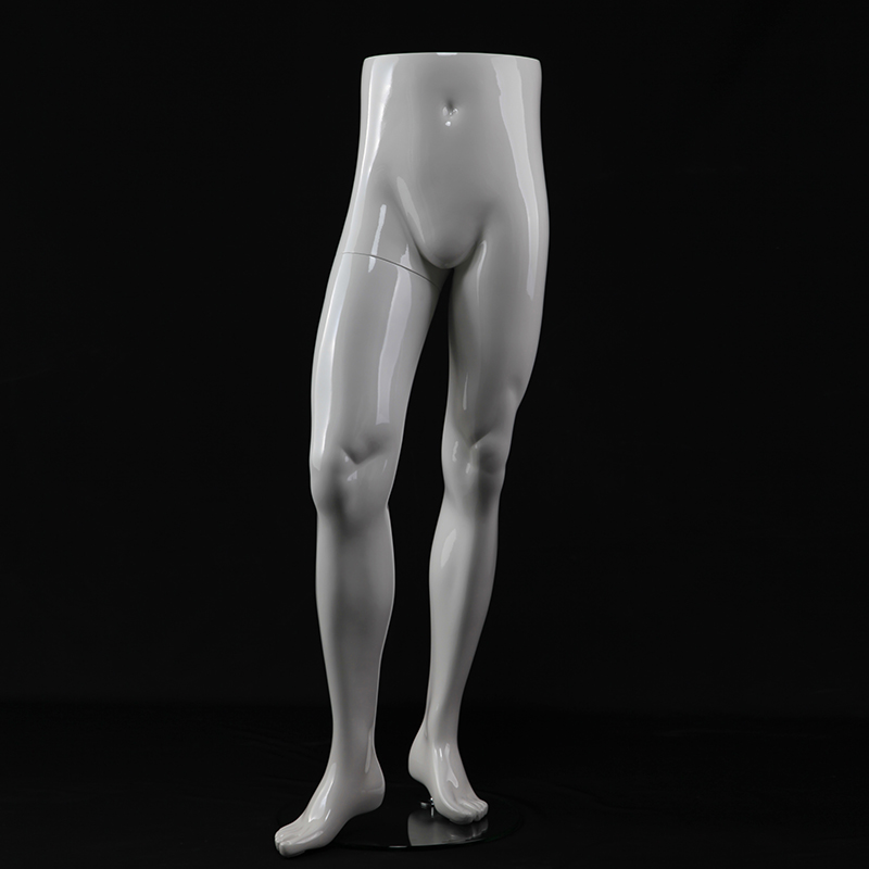 Fashion glossy white Male Mannequin Legs for sale(IMH)