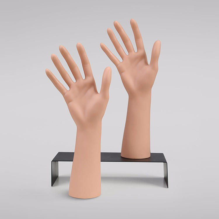 High quality realistic plastic mannequin hand jewelry display with stand for saleGH)