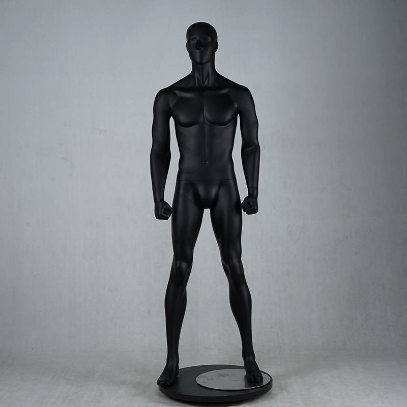Customized black muscle male mannequins for sale(NPM)