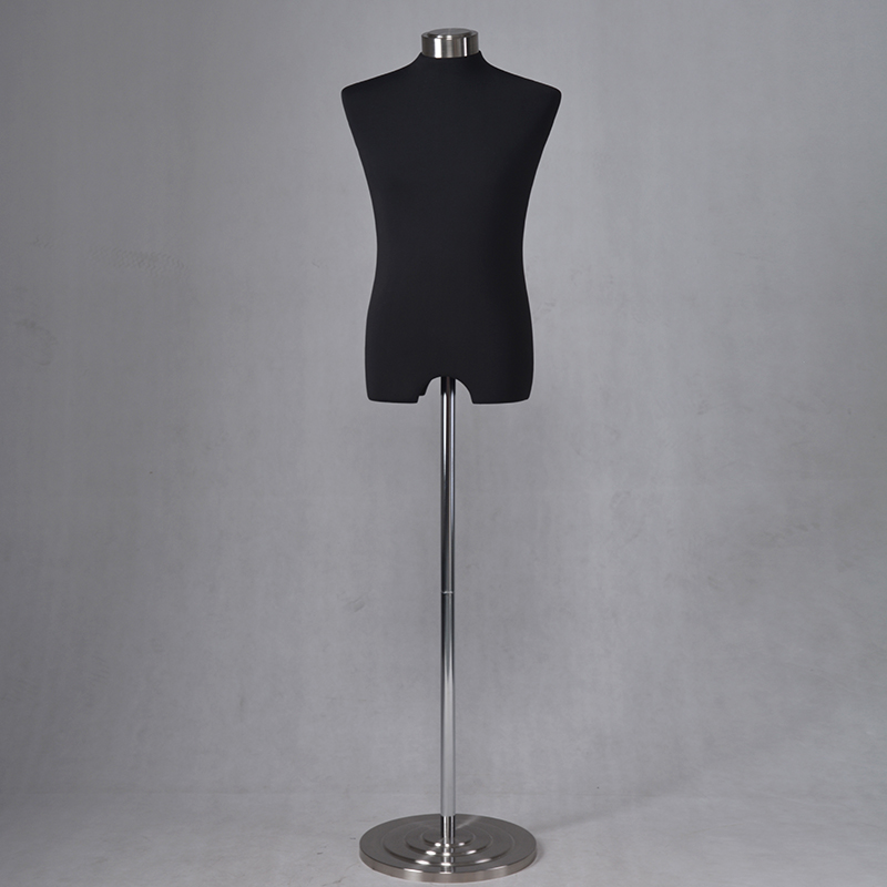 High quality upper body mannequin fabric covered fiberglass dressmakers mannequin for sale (WFM)