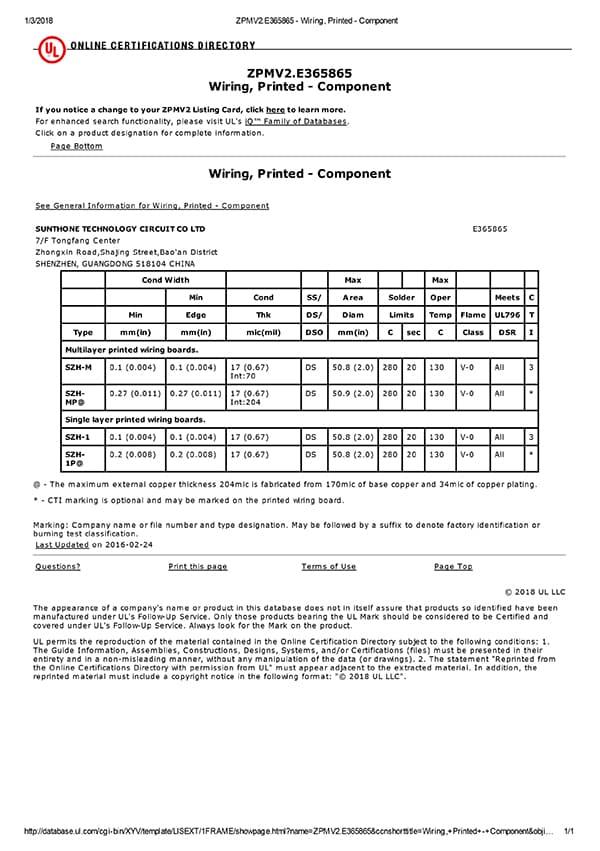 Certificat UL