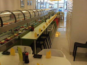 Double Layer Cooling Rotating Sushi Equipment