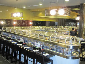 Best selling of Double layer sushi conveyor belt manufacturer