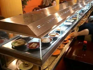 Double-layer Heating And Cooling Rotating Sushi Conveyor