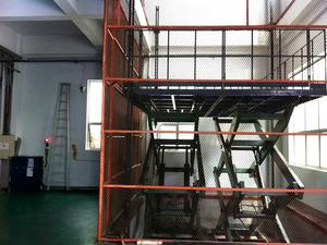Best selling Cargo hydraulic elevator fixed scissor lift supplier