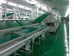 Industrial Assembly Line Green Pvc Belt Conveyor For Workshop