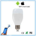 6W E27 RGBW LED bulb,wifi smart light