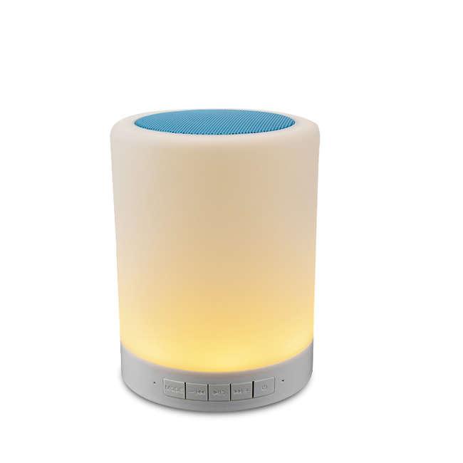 Bunte LED bluetooth Lampe beweglicher Lautsprecher Berührungslampe ...