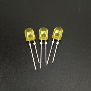 Goodchip diffused color dip 546 yellow led diodes 5mm oval led supplier