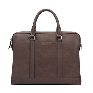 New Style Of Business Cowhide Large Capacity Briefcase Customized Classic Leather Briefcase Pl001-1