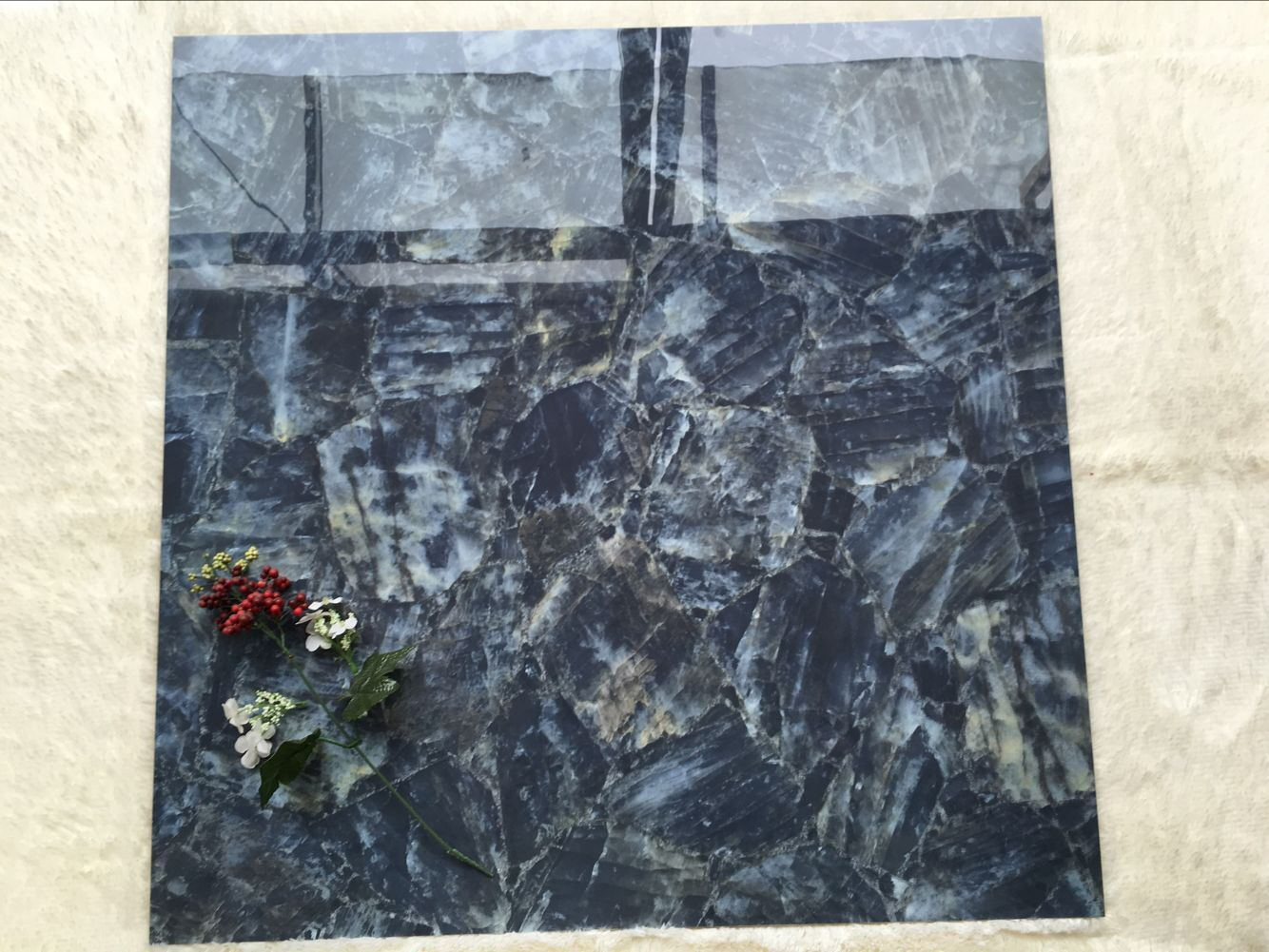 blue marble tile