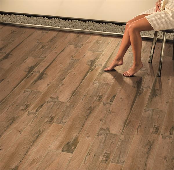 Rustic inkjet wood patterns compound marble tile