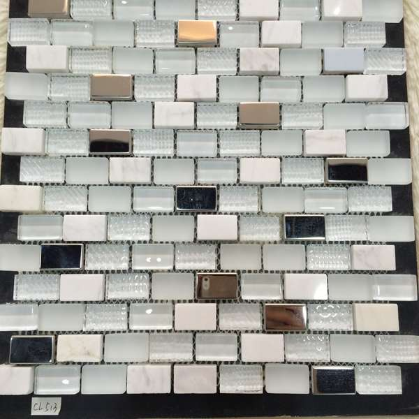 white ceramic mosaic tile