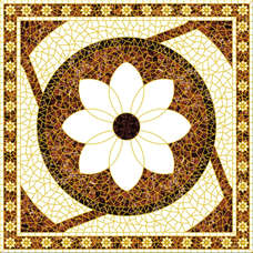 White flower decoration carpet floor, ceramic carpet floor tile
