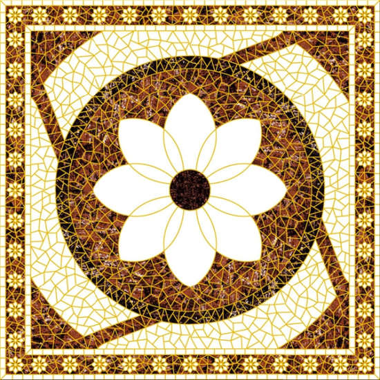 flower carpet tile