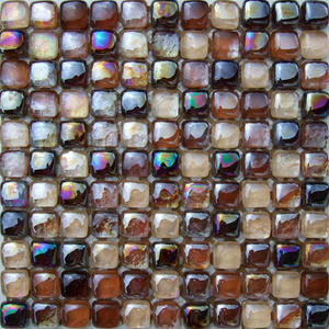 Popular brown glass mosaic tile for interior wall